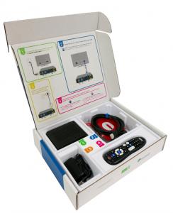 Packaging sostenibile telecomando