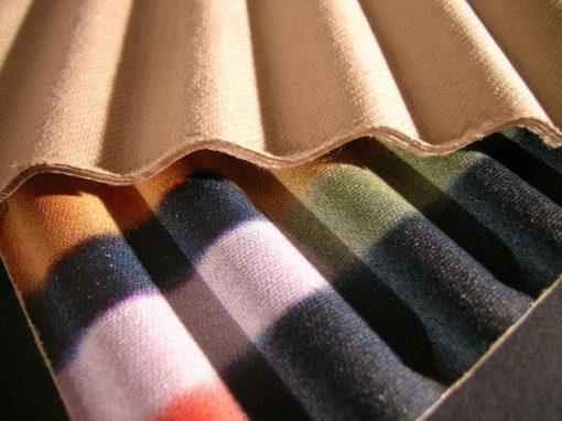 Pannello corrugato flessibile in cellulosa