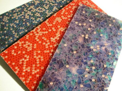 Piastrelle decorative in resina polimerica