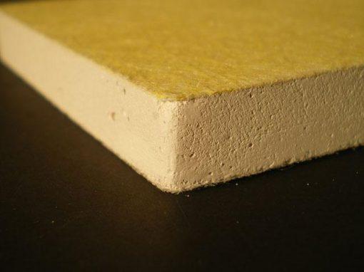 Materiale composito in gesso e fibre di vetro