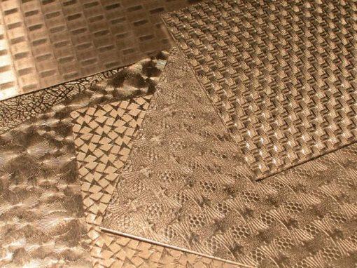Fogli in alluminio stampati con motivi ornamentali