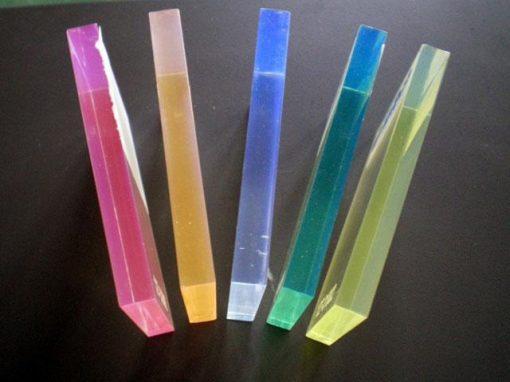 Lastre acriliche trasparenti e fluorescenti