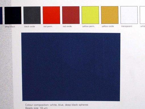 Pigmento per vernici a base poliuretanica con effetto soft touch