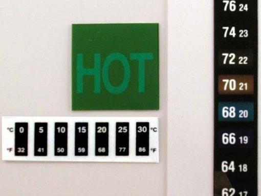 Indicatori di temperatura a cristalli liquidi